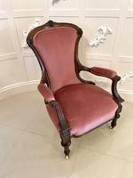 Quality Antique Victorian Walnut Armchair