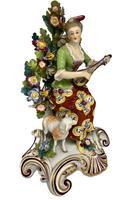 Antique Pair of Samson Porcelain Figural Groups c.1870 (10 of 10)