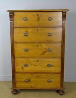 Large Antique Pine & Elm Chest of Drawers