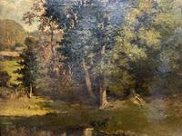 Antoine Chintreuil Fine 19th Century French Barbizon Landscape Oil Painting (8 of 13)