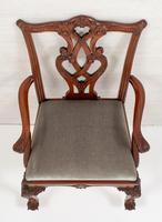 Set of 8 Mahogany Chippendale Style Dining Chairs (10 of 17)