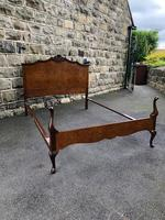 Antique Burr Walnut Double Bed (9 of 9)