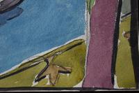 LoÏs Hutton Avant-Garde Art Deco Watercolour 1920 (4 of 8)