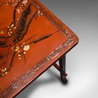 Antique Nest of 3 Occasional Side Tables, Oriental, Japanned, Victorian c.1900 (12 of 12)
