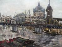 Large Oil on Board The Thames Listed Artist Sheila Appleton (11 of 12)