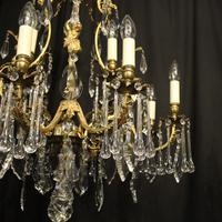 French Pair Bronze 12 Light Antique Chandeliers (10 of 11)