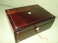 Unisex Inlaid Rosewood Jewellery Box + Tray. c1850 (13 of 13)