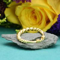 The Ancient Viking Era Gold Twisted Wedding Band (3 of 3)