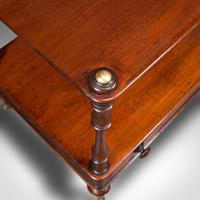 Antique Two Tier Side Table, Mahogany Whatnot, Regency Canterbury, Display Stand (10 of 12)