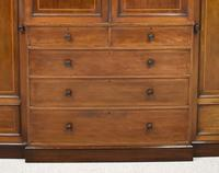 19th Century Mahogany Breakfront Wardrobe (6 of 12)