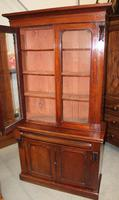 1910's Mahogany Chiffonier Bookcase with Glazed Top (5 of 5)