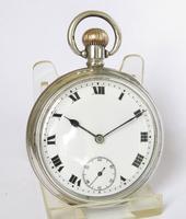 Antique Silver Buren Pocket Watch, 1912 (2 of 5)