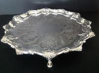 Paul Storr Antique Georgian Silver Salver - 1815 (4 of 6)