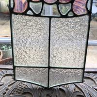 Antique Stained Glass Panel with Pink Glass Detail (7 of 10)
