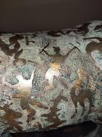 Chinese Archaistic Silver / Gold Coloured Inlaid Bronze Mythical Qilin (3 of 15)