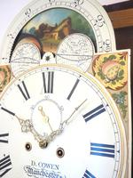 Fine English Longcase Clock D Cowed Manchester 8-day Striking Grandfather Clock Solid Mahogany Case (17 of 19)
