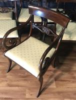 Mahogany Dining Table & Set of 10 Regency Style Chairs (15 of 19)