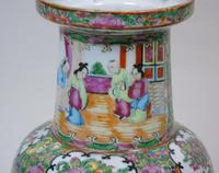 Good Large Pair of Chinese Famille Rose Rouleau Vases 19th Century (5 of 11)