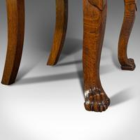 Pair of Antique Shield Back Chairs, Scottish, Oak, Hall Seat, Victorian c.1880 (8 of 12)