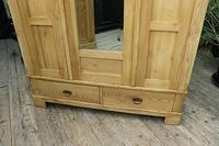 Fabulous & Large Old Pine Triple 'Knock Down' Wardrobe - We Deliver! (7 of 12)