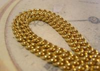 Vintage Pocket Watch Chain 1950s 14ct Rolled Gold Double Albert With Sliding T Bar (6 of 11)