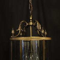 French Gilded Four Light Convex Hall Lantern (2 of 10)