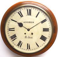 Antique Original Dial Wall Clock Rare Striking Station Public Dial Wall Clock (6 of 10)
