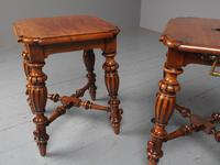 Antique Pair of Red Walnut Stools (6 of 11)