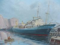 Oil on board seascape Shoreham Power Station Listed Artist Max Parsons ARCA (10 of 10)