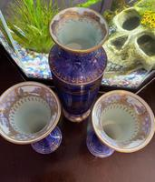 Wedgwood Lustre garniture of 3 Vases decorated with Dragon design by Daisy Makeig-Jones (8 of 9)