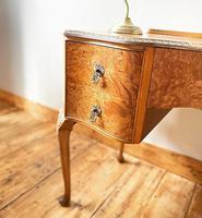 Burr Walnut Dressing Table / Desk / Vanity Table / Sideboard (2 of 5)