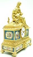 Antique 8 Day Ormolu Mantel Clock Sevres Mother & Child French Mantle Clock (10 of 16)