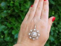 6.10ct Diamond & 9ct Yellow Gold Brooch / Pendant - Antique Victorian (2 of 15)