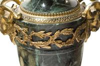 Pair of Green Marble Gilt Metal Mounted Table Lamps 19th Century (4 of 7)