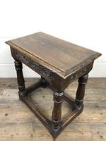 Antique Oak Joint Stool with Carved Detail (12 of 13)