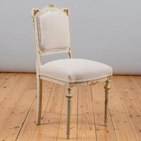 19th Century French Painted And Parcel-Gilt Upholstered Salon Suite (11 of 15)