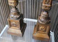 Pair of Carved Giltwood Lamps (6 of 7)