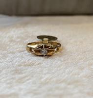 18ct. Yellow Gold Single Diamond Ring 1903 (4 of 6)