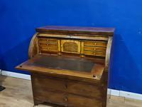 Biedermeir Mahogany Veneered Cylinder Bureau Desk 19th Century (8 of 14)