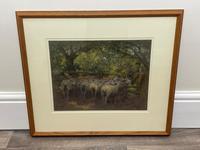 "Edwardian Pastel Painting ""The Sheepfold"" By John Robert Keitley Duff RI RA Rse (7 of 34)"