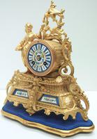 Stunning Complete French Mantel Clock Under Dome with Base Figural Sevres Mantle Clock. (4 of 10)
