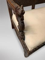 Burmese Rosewood Hand Carved Settee (4 of 6)