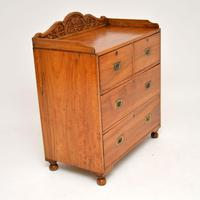 Antique Camphor Wood Military Campaign Chest of Drawers (4 of 12)