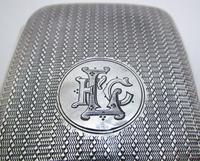 Edwardian 1902 English Antique Solid Sterling Silver Hip Pocket Small Cigarette Case (8 of 10)