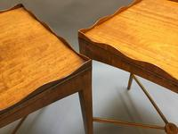 Pair of Edwardian Satinwood Occasional Tables (9 of 11)