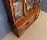 Fine Quality Figured Mahogany Library Bookcase (12 of 17)