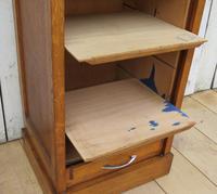 Industrial Oak Tambour Front Filing Cabinet (7 of 9)