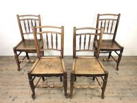 Set of Four 19th Century Elm Country Chairs (2 of 13)