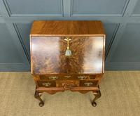 Very Good Queen Anne Style Burr Walnut Bureau (4 of 18)