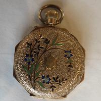 Antique 14ct Gold Cased, Enamel-decorated, Ladies Watch (3 of 12)